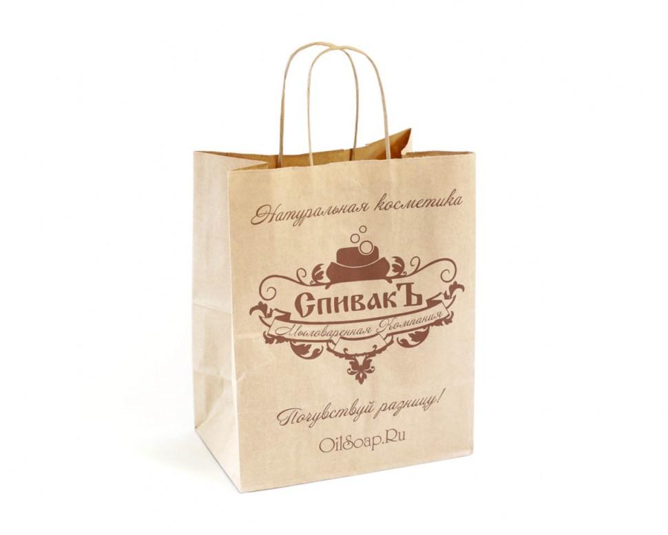 Изготовление пакетов с ручкой с логотипом